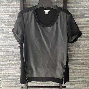 Calvin Klein Faux Leather Top